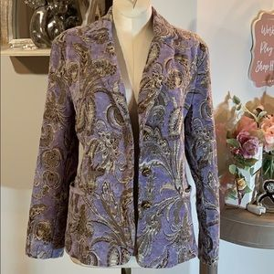 Erin London damask blazer jacket sz S